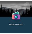 Photo camera web icon flat design vector image vector image