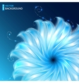Bright abstract cosmic flower background vector image vector image
