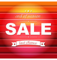Red Sale Poster With Text vector image