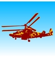 Russian helicopter Ka-52 alligator vector image