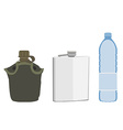 Water containers vector image