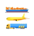 Cargo Transportation Set vector image