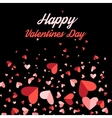 Greeting card with hearts vector image
