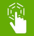 click icon green vector image