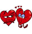 hearts in love cartoon vector image
