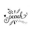 peach lettering handmade lettering for vector image