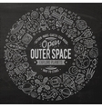 Set of space cartoon doodle objects symbols and vector image