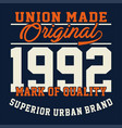 Union made original vector image