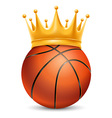 Basketball ball in crown vector image
