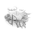 paper boat tatoo vector image