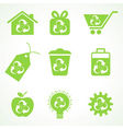 Set of eco icons vector image