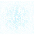 Repeating winter frost seamless pattern vector image vector image