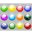Glossy colore buttons with zodiac signs for web vector image vector image