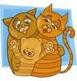 cats family vector image vector image