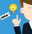 Businessman with light bulb idea concept vector image