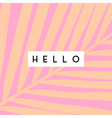 Tropical Greeting Card Design vector image vector image