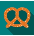 Pretzel icon in flat style vector image