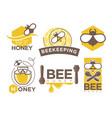 beekeeping and honey symbols vector image