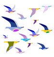 colorful birds on wires vector image