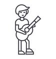 guitar playerflamenco line icon sign vector image