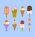 ice cream set eps vector image