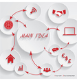 Modern design for your business presentation vector image