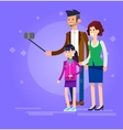 Selfie shots family and couples vector image