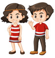 two happy kids with big smile vector image
