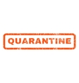 Quarantine Rubber Stamp vector image