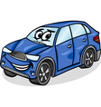 suv car character cartoon vector image