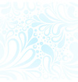 Repeating winter frost seamless pattern vector image
