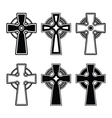 Irish Scottish celtic cross sign vector image