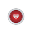 gemstone icon button vector image