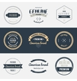 Premium quality labels set Brands design elements vector image