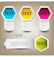 Colorful bookmarks for text Colorful paper arrows vector image vector image