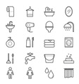 Bathroom and Toilet Icons Line vector image