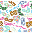 carnival rio colorful pattern masks design vector image