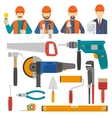 Construct Icons Flat Set vector image