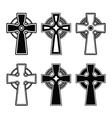 Irish Scottish celtic cross sign vector image