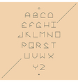 Modern sans serif lineales geometric font vector image