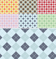 Plaid Pattern Seamless Set vector image
