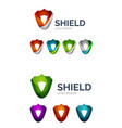 set of geometric abstract icons - shield vector image