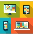 Set of modern flat design gadget icons vector image