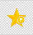 star icon bulb icon vector image