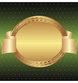 green and gold background vector image vector image