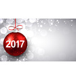 2017 New Year luminous background vector image