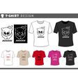 t shirt design with adorable cat vector image
