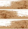 cofee banners vector image