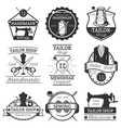 set of vintage tailor labels badges and vector image