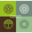 organic round emblem vector image vector image